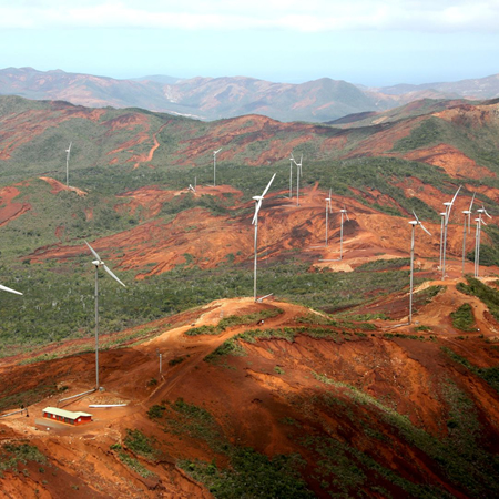 COL DE PRONY WIND FARM Mont Dore, New Caledonia