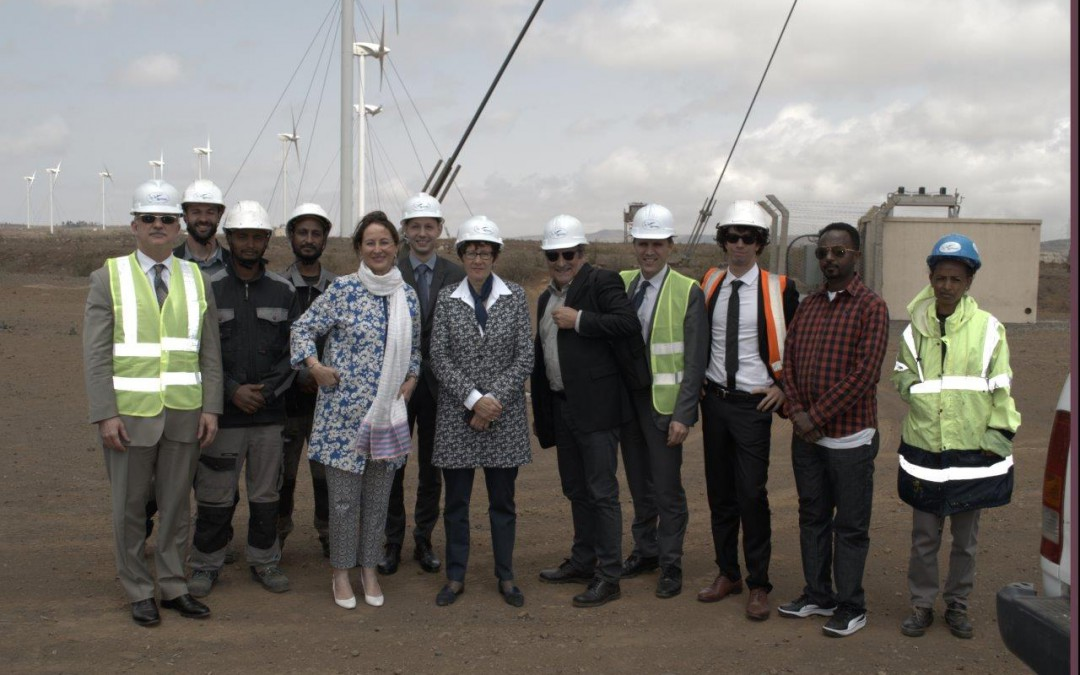 French Minister of Energy visits Vergnet's Wind Farm in Ashegoda, Ethiopia