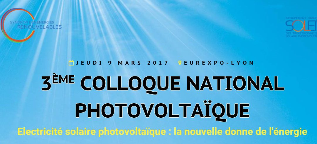 VERGNET attended the 3rd national photovoltaic (PV) conference