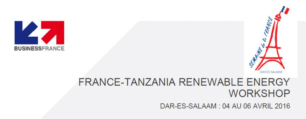 VERGNET to attend the Renewable Energy Workshop in Tanzania from 4 to 6 April